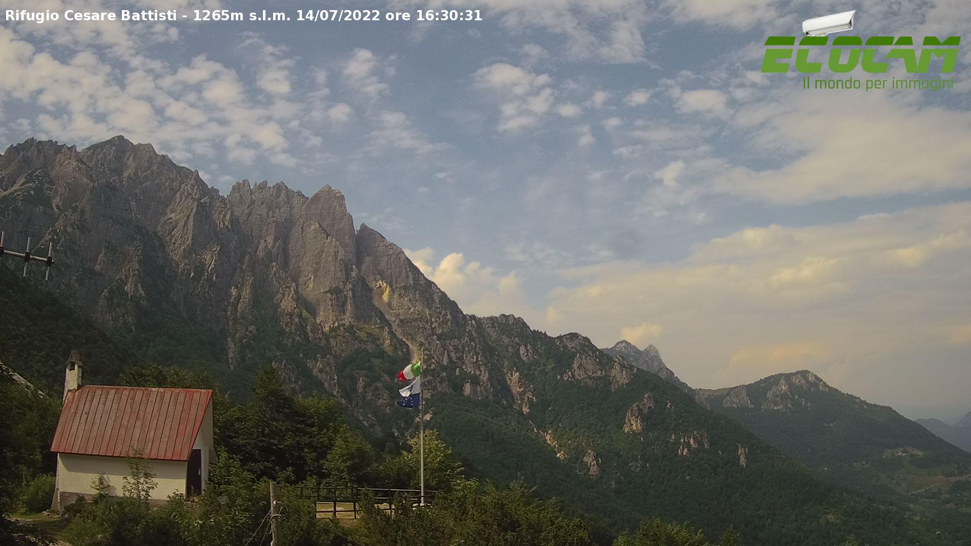 Webcam Rifugio Cesare Battisti alla Gzza